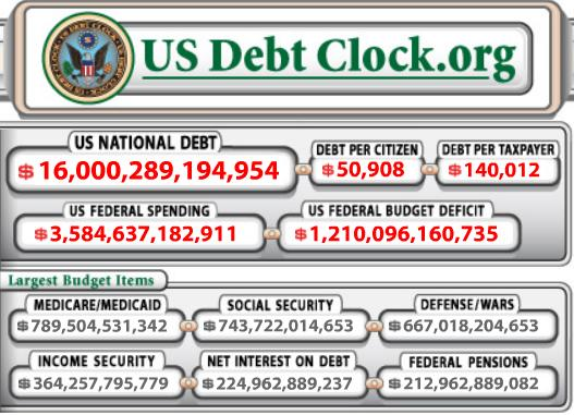 usdebtclockobama16trillion